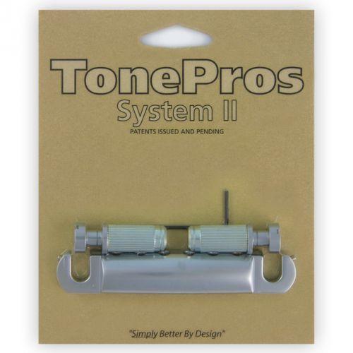 Tonepros t1zs-sc - tailpiece, części mostka do gitary, satynowy chrom