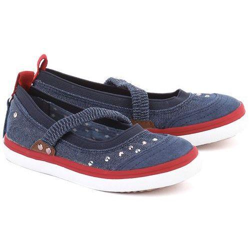 GEOX Junior Kiwi - Granatowe Tekstylne Baleriny Dziecięce - J62D5B 000ZD C4001 ze sklepu MIVO Shoes Shop On-line