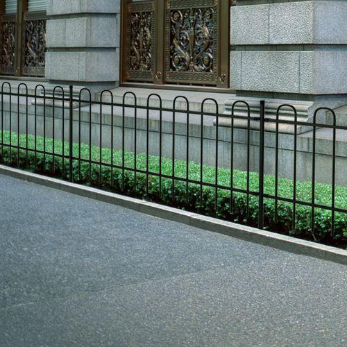Ogrodzenie ozdobne palisadowe ze stali, czarne, 100 cm, marki vidaXL do zakupu w VidaXL