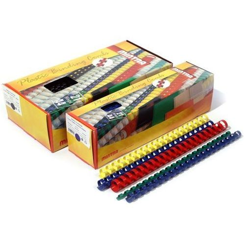 Grzbiety plastikowe do bindowania 8mm, 100szt., NB-837