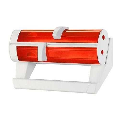 Podajnik na folie, papier śniadaniowy i ręcznik kuchenny Latina biało-czerwony by Guzzini, GU-06260011