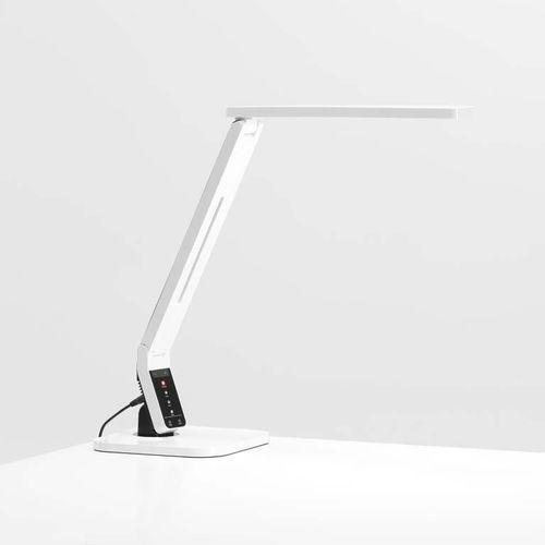 Biała lampka LED na biurko (lampka biurkowa)
