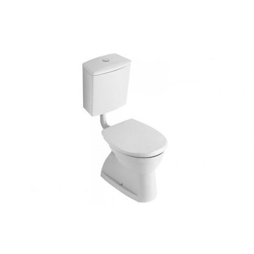 Villeroy & Boch O.Novo Miska ustępowa lejowa 35,5x45,5 cm odpływ poziomy - Weiss Alpin 76181001 z kategorii Miski i kompakty WC