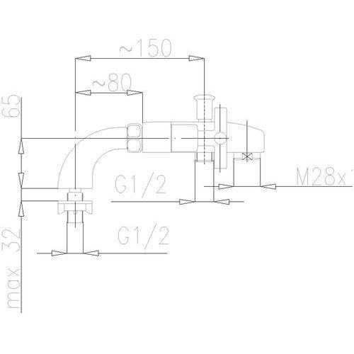 KFA SYMETRIC 345-010-00 - produkt z kat. baterie wannowe