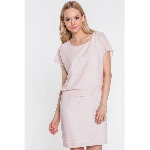 de73352725 Sukienka z połyskującej tkaniny - marki Topsi 381