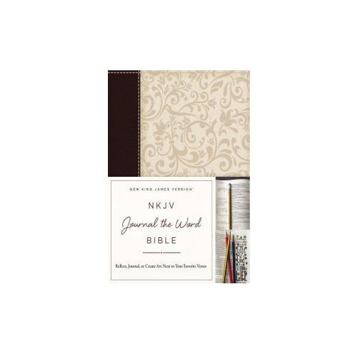 NKJV, Journal the Word Bible, Leathersoft, Brown/Cream, Red Letter Edition (9780718089849)