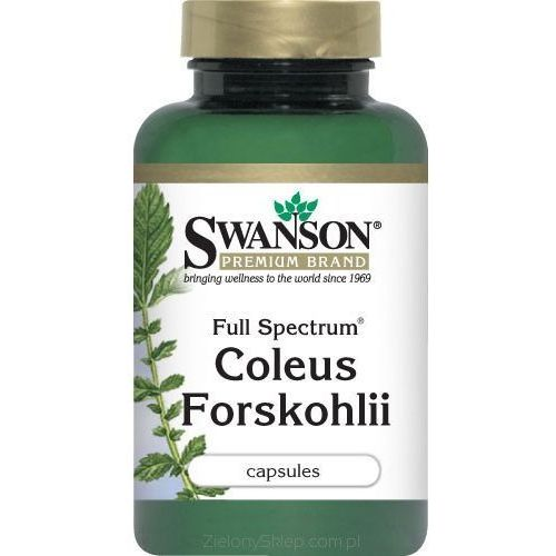 Forskolina pokrzywa indyjska 400mg Coleus Forskohli 60 kapsułek SWANSON - oferta (0541d24c134fe622)