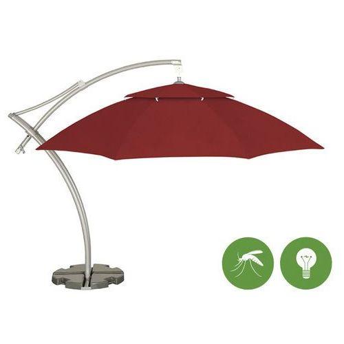 Parasol ogrodowy Ibiza 3,5m Sunbrela z podstawą (3728) + moskitiera, oświetlenie, LITEX Promo Sp. z o.o. z Litex Garden