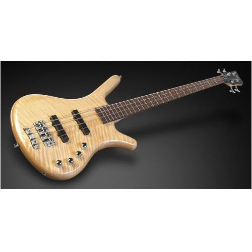 corvette premium 4-string, natural transparent high polish, active, fretted gitara basowa marki Rockbass