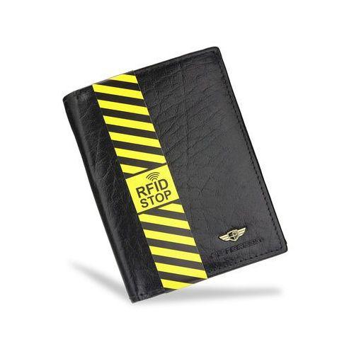 bb3094092dd26 Portfel Męski Peterson Skórzany Czarny 350 RFID STOP 139