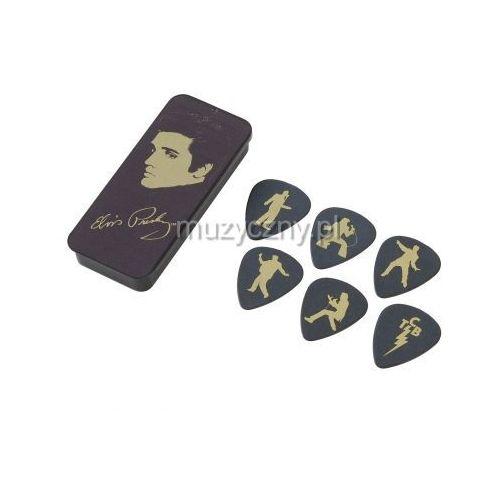 Dunlop eppt04 elvis presley medium zestaw kostek gitarowych 6 sztuk