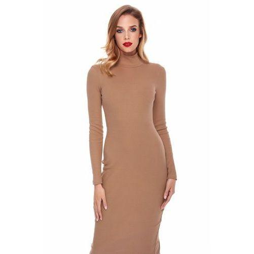 Sukienka Eli w kolorze camelowym, w 3 rozmiarach
