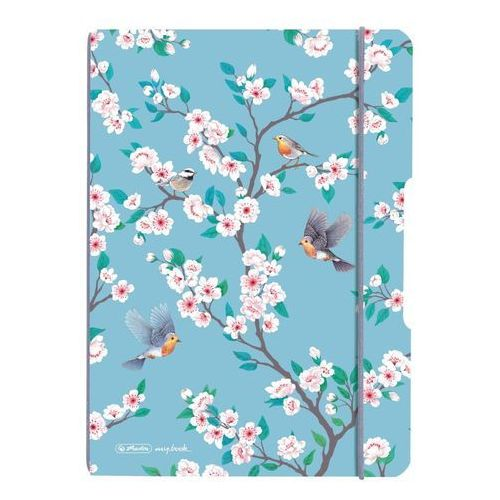 Herlitz Notes notatnik a5 my.book flex pp z gumką - ladylike birds (4008110573601)