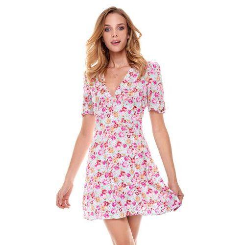 Sukienka cannes błękitna w kwiaty, Sugarfree, 38-40