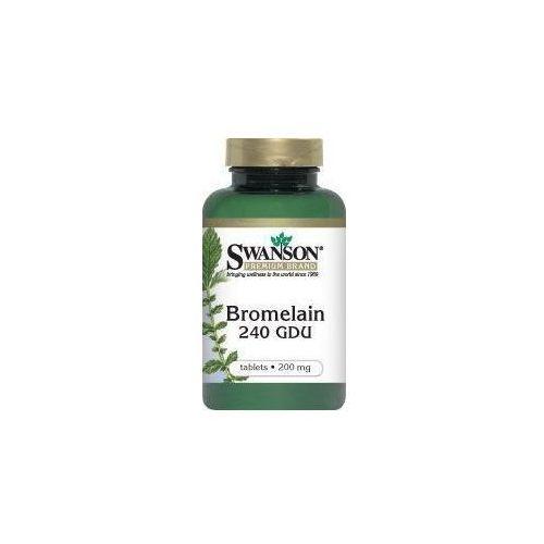 Swanson health products Swanson bromelina 200mg x 100 tabletek, kategoria: pozostałe zdrowie