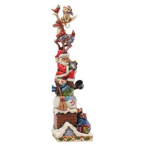 Czarodziejski komin piramida, (piled high with holiday spirit), 4034388 figurka ozdoba świąteczna bałwan mikołaj renifer marki Jim shore