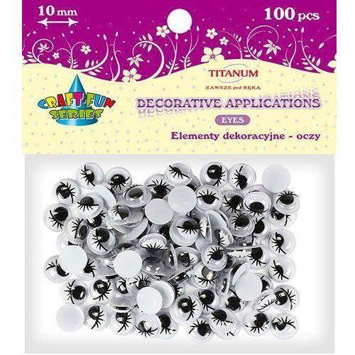 Titanum Elementy dekoracyjne oczy samoprzylepne 10mm 100 sztuk (5907437647028)