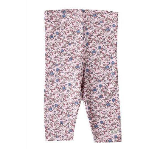 Różowo-niebiesko-białe legginsy
