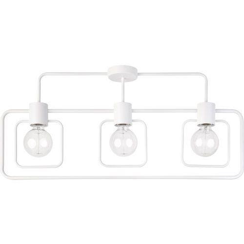 Plafon LAMPA sufitowa FREDO KWADRAT 31510 Sigma metalowa OPRAWA prostokątna na wysięgnikach biała, 31510