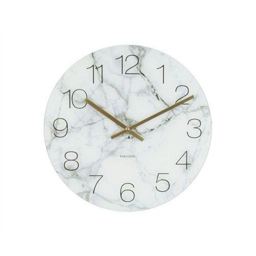 Zegar stołowo-ścienny Glass Clock white Marble by Karlsson