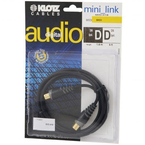 Klotz MID-018 kabel MIDI 1,8m