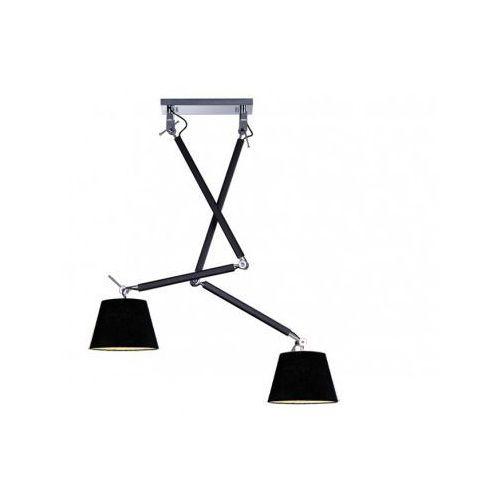 Azzardo Zyta 2S MD2300-2S BK Lampa wisząca zwis 2x60W E27 czarna + żarówka LED za 1 zł GRATIS!