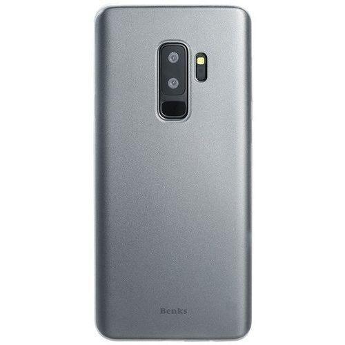 Etui Benks Lollipop 0.4mm Galaxy S9 Plus Transparent White, kolor biały