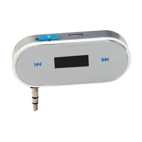 """cb-31221 white """"nanophone"""" samochodowy transmiter fm z podłączeniem przez minijack marki Monotech"""