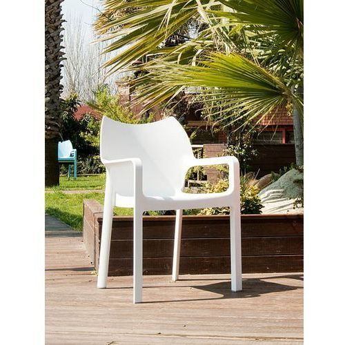 Krzesło dionisio white arm chair modern house bogata chata marki Resol