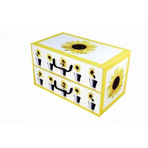 Pudełko kartonowe 2 szuflady poziome doniczki-słonecznik marki Miss space
