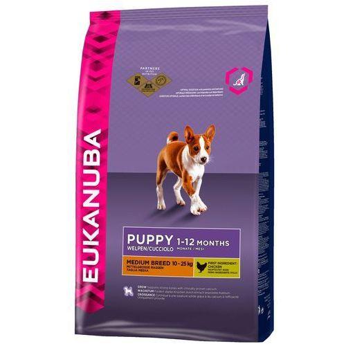 Eukanuba Growing Puppy Medium Breed, kurczak - 15 kg| -5% Rabat dla nowych klientów| Dostawa GRATIS + promocje (8710255122434)