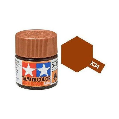 Farba akrylowa - X-34 Metallic Brown gloss / 10ml Tamiya 81534 (49376807)