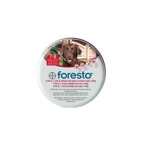 Bayer Foresto Obroża 4,5g + 2,03g dla psów o masie ciała powyżej 8kg - tak \ 70cm - produkt dostępny w Sklep zoologiczny keko.pl