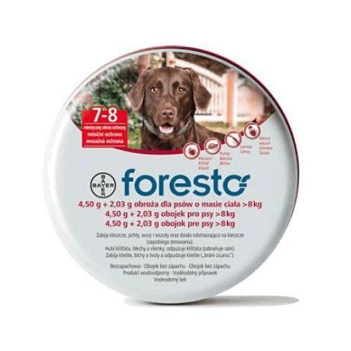 Bayer Foresto obroża przeciw pchłom i kleszczom dla dużych psów 70cm ze sklepu AnimalCity.pl