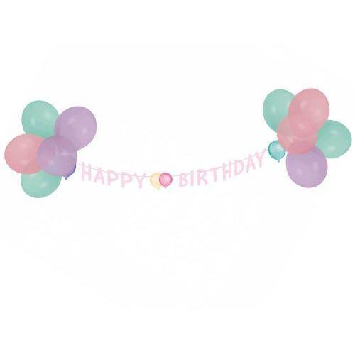 Amscan Baner urodzinowy happy birthday pastelowy - 1 szt.