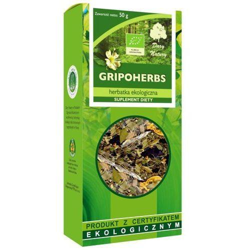 Dary natury - herbatki bio dystrybutor: bio planet s.a., wilkowa wieś Herbatka gripoherbs bio 50 g - dary natury