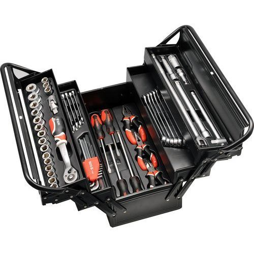 Zestaw narzędzi YATO YT-3895 ze skrzynką (62 elementy) + DARMOWY TRANSPORT! (5906083938955)