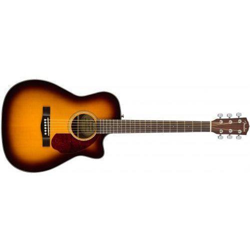 cc-140sce with case, sunburst gitara elaktroakustyczna marki Fender
