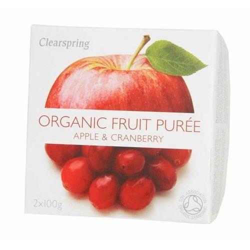 Deser jabłko-żurawina bio 200 g - marki Clearspring