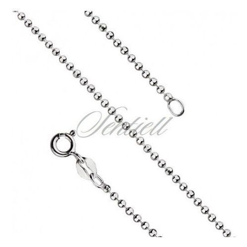 Sentiell Silver (925) ball chain necklace for military tags - bead8l180