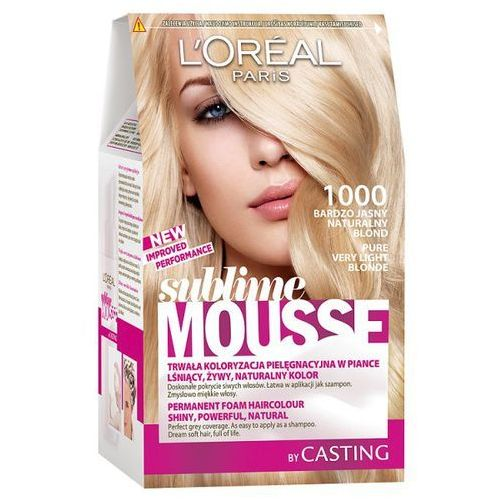 L'Oréal Farba do włosów Sublime Mousse - 1000 Bardzo Jasny Naturalny Blond, L'Oréal
