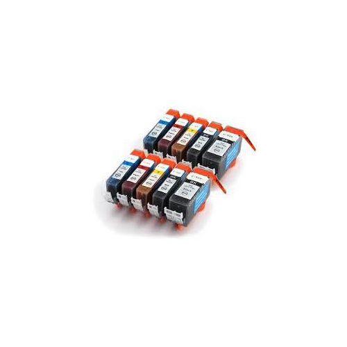 Tusz cartridge canon pgi520bk*2 + cli521bk*2 + cli521c*2 + cli521m*2 + cli521y*2 10 szt. z chipem zamiennik marki Bbtoner.pl