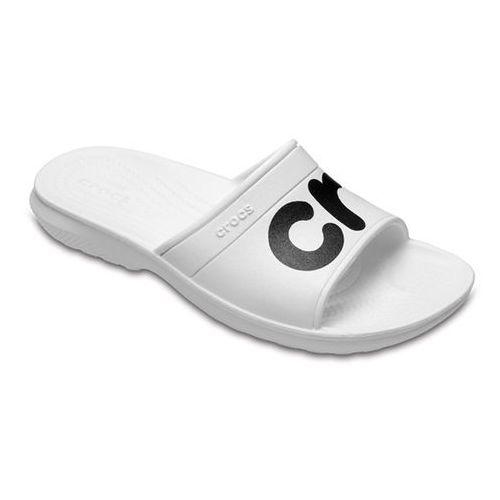 Klapki classic slide 204465 white - perłowy   white   biały marki Crocs