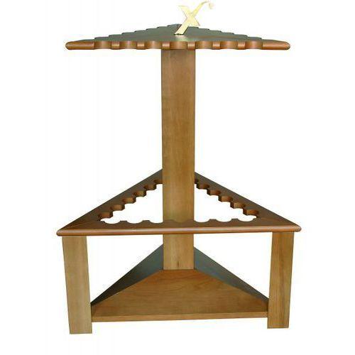 Drewniany trójkątny stojak na 21 wędek exori marki Lagis