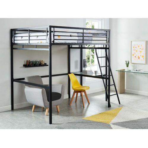 Łóżko antresola casual ii - miejsce do spania 140 × 190 - blat biurka - kolor antracytowy marki Vente-unique