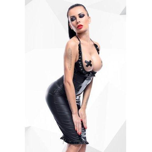 Drapieżny komplet spódnica+ biustonosz danika czarny m | 100% dyskrecji | bezpieczne zakupy marki Demoniq