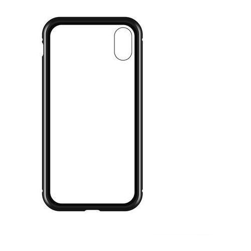 Wozinsky Full Magnetic Case magnetyczne etui 360 pokrowiec na przód i tył + szkło iPhone XR czarno-przezroczysty, 48520 (11702132)