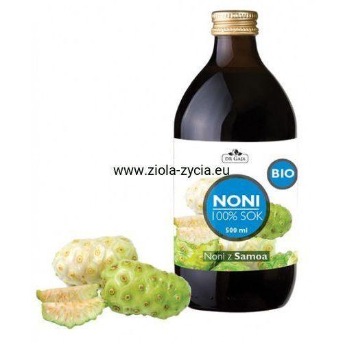 100% sok z noni bio (500 ml) - - owoce morwy indyjskiej marki Dr gaja