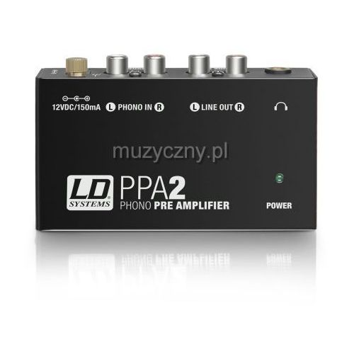 LD Systems PPA2 przedwzmacniacz gramofonowy
