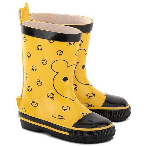 CAYOLE Kalosze Żółte - Żółte Gumowe Kalosze Dziecięce - 5C YELLOW
